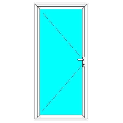 German Windows Aluminium Casement Door