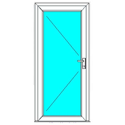 German Windows Aluminium Entrance Door